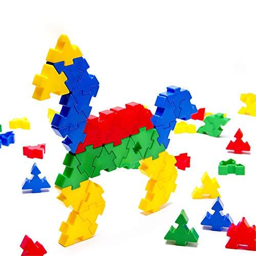 Liuxiaomiao-Toy Blocs Jouets Enfants 3-12 Ans en Plastique 140 pièces de Blocs de Construction de Puzzle colorés Puzzle démontage Enfants Jouets pour la Famille de la Maternelle