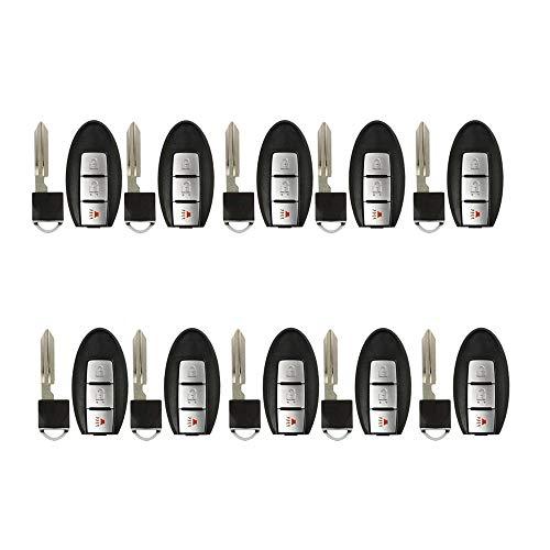 AKS Keys Compatible with Nissan 2007-2013 Smart Prox Key Fob 3B CWTWBU729 (10 Pack)