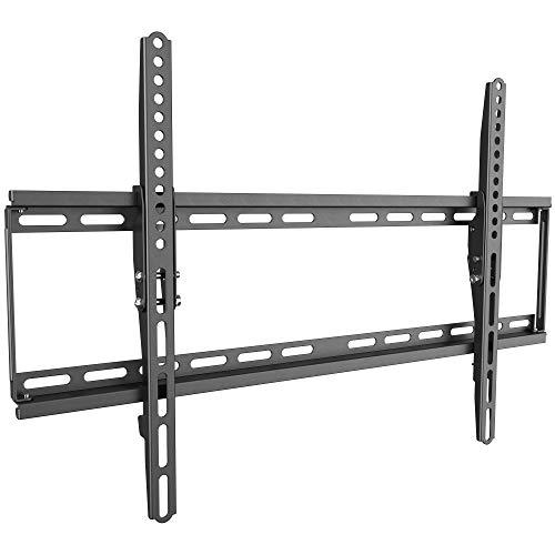 RICOO Neigbare TV Wand-Halterung Flach Fix Slim (N1964) Universal Fernsehhalterung für 37-75 Zoll (bis 95-Kg, Max-VESA 600x400) Curved-Bildschirm OLED LCD Fernseher-Halterung Kippbar