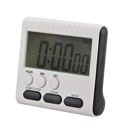 Preisvergleich Produktbild Vosarea Digitale Küchenkochtimer Countdown-Uhr lauter Alarm mit großem LCD-Bildschirm Batterie nicht enthalten (schwarz)