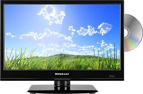 Megasat Camping LED TV 16 Zoll HD Ready USB DVD Triple Tuner 12V/230V Fernseher f. LKW KFZ Wohnmobil