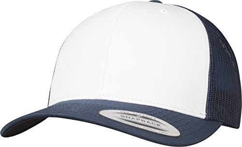 Flexfit Retro Trucker Colored Front Kappe, Navy/White, One Size