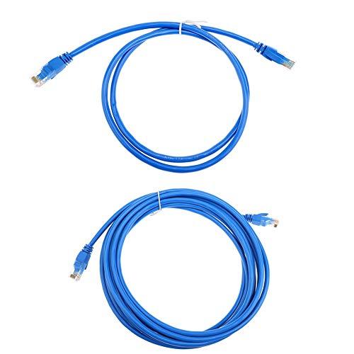 Conectores 1 unidad de 1 m/5 m CAT6 CAT 6 Redonda UTP Ethernet Cat.06 1 m/5 m Cable RJ45 Patch LAN Cable de red – (Longitud del cable: 5 m)