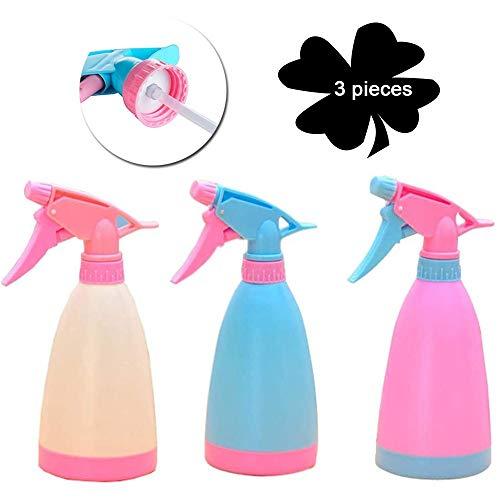 HJHY@ Watering Plastic Spray Fles Hand Held Tuin Sprayer Lekvrij Mist Lege Water Fles Verstelbare Mondstuk 400ml Ergonomische Grip Voor Spuiten Onkruid/Thuis Reiniging (3 Sprayer)