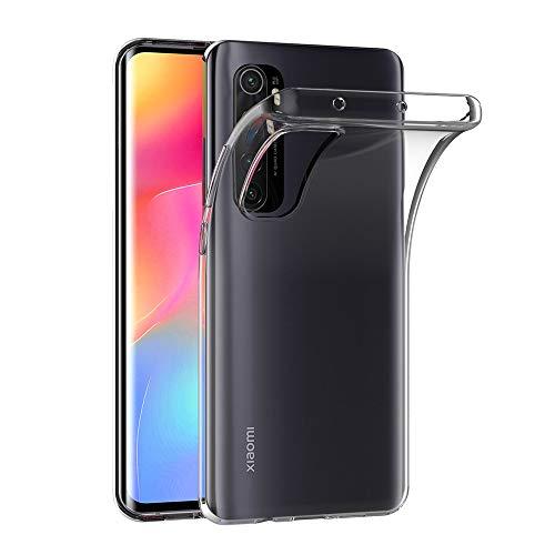 AICEK Hülle Compatible für Xiaomi Mi Note 10 Lite Transparent Silikon Schutzhülle für Xiaomi Note 10 Lite Hülle Clear Durchsichtige TPU Bumper Mi Note 10 Lite Handyhülle (6,47 Zoll)
