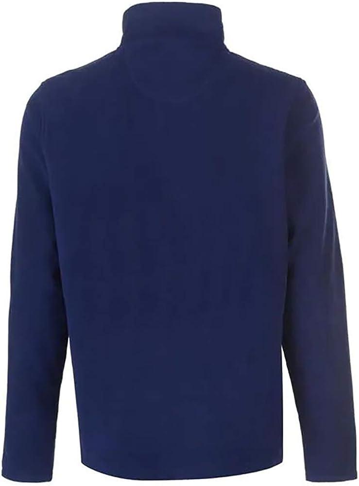 Pierre Cardin quarter Zip Fleece Mens Gents Zipped Pullover Jumper Full Length