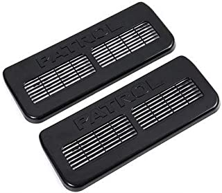 Car Interior Seat Air Condition Outlet Vents Protector Cover Accessories A pair of packaging for Nissan Patrol Y62(black)