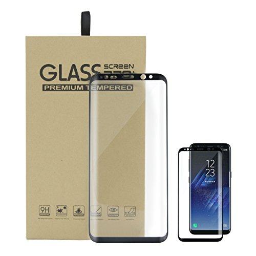 Screen Protector Vetro Temperato per Samsung Galaxy S8 Ultra Resistente Vetro Temperato Pellicola Protettiva 3D Copertura Completa 9H durezza Anti-graffio Screen Protector Alta Definizione 1 Pack NOIR