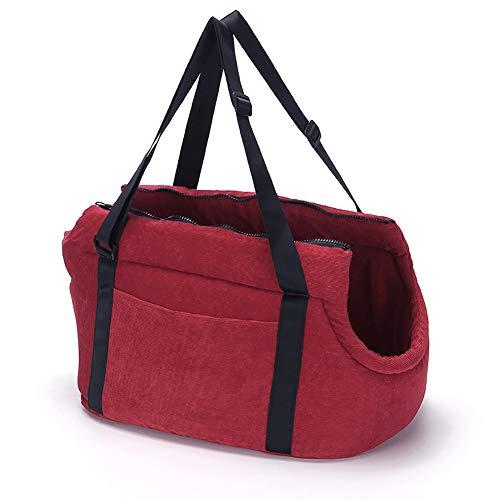 LeerKing Pet Carrier Purse Tote Bag Warm Sponge Portable Travel Bag with Leash Hook for Cats Medium...