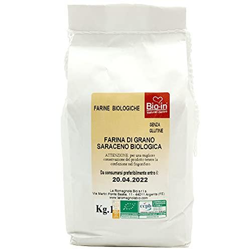 Oltresole - Farina Italiana di Grano Saraceno Biologica 1 Kg - farina biologica gluten free 100% made in italy