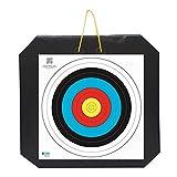 YATE Bogenschießen XXL Zielscheibe Polimix mit Griff 80cm x 80cm x 10cm bis 45 lbs (Pfund) Bogensport Bogenschießscheibe Bogenzielscheibe mit 2 Scheibenauflagen 60cmx60cm Indoor & Outdoor