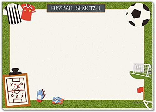 blaash® XXL Fußball Schreibtischunterlage Papier DIN A2 für Kinder | 25 Blatt Block mit viel Platz zum Malen, Schreiben od Kritzeln |Unterlage Schreibtisch Jungen/Schreibtischunterlage Kinder Deko