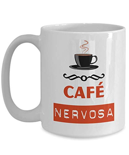 Cafe Nervosa Coffee Mug TV Show Frasier Crane Costume Niles Crane Prop Restaurant Coffee Mug, Funny, Cup, Tea, Gift For Christmas, Father's day, Xmas,