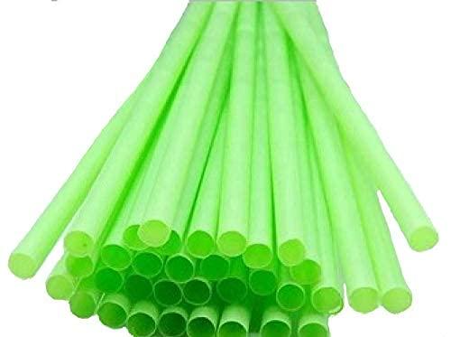 250 pajitas biodegradables compostables de P.L.A. largo 23 cm, diámetro 6 mm