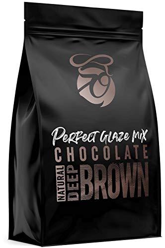 CAKEZO | PERFECT GLAZE Chocolate Mix DEEP BROWN, Mirror Glaze – Torten-Spiegelglasur mit hochwertiger Schokolade 750g
