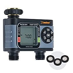 top rated Melnor 65076-AMZ HydroLogic 2 Zone Digital Water Timer, Washer Set of 3 Amazon 2021