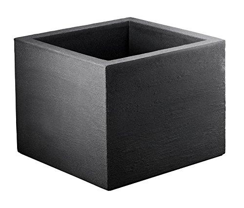 Pflanztopf Kubus quadratisch anthrazit aus Kunststoff (30 x 30 cm)