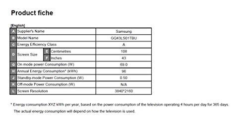 Samsung QLED 4K The Serif 108 cm (43 Zoll) (Ambient Mode, QLED-Technologie, Active Voice Amplifier) [Modelljahr 2020]