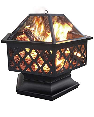 UNIVERSAL LTD FIRE PITS Outdoor Wood Burning 24 INCH FIREPITS for Outside Fireplace Patio BACKYAR Outdoor Heater Steel FIREPIT Your Favorite Place to SIT