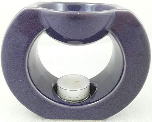 1a PartyLite - Duftlampe Gaia - LILA - P90633 - H: 11cm - Keramik