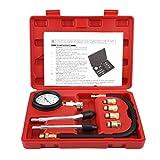 Manómetro de presión de cilindro, 8 piezas G326, juego de herramientas de diagnóstico de medidor de presión de compresor de motor de gasolina de bicicleta de coche G326, con adaptadores Manguera de tu