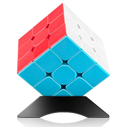 Speed Cube 3x3x3 Jurnwey Stickerless with Cube Tutorial - Turning Speedly Smoothly Magic Cubes 3x3 Puzzle Game Brain Toy for Kids and Adult