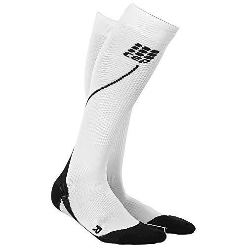 Cep - Run Socks 2.0 Chaussettes de course longues pour homme, noir/blanc dans la taille IV Chaussettes de compression fabriquées par medi