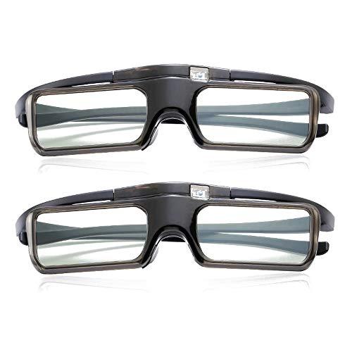 Mouwa 3D Active Shutter-Brille, Wiederaufladbare 3D-Brille Für Den Fernseher Für HF/Bluetooth Sony Panasonic Samsung 3D-Fernseher Und Epson 3D-Projektor 3D-Brillen Kompatibel TDG-BT500A,1Pack