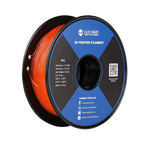 SainSmart Living Coral Flexible TPU 3D Printing Filament, 1.75 mm, 0.8 kg, Dimensional Accuracy +/- 0.05 mm