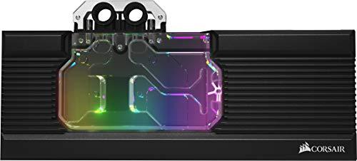Corsair Hydro X Serie XG7 RGB, RX-SERIES GPU Water Block (Radeon 5700 XT), Finiture di Qualità, Backplate in Alluminio, Illuminazione RGB Personalizzabile, Nero