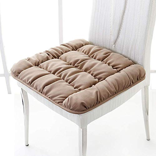 XHNXHN Almohadillas cuadradas para silla de interior y exterior, almohadillas de asiento transpirables suaves de Tatami para silla, cojines para oficina, hogar o coche, 40 x 40 cm, color caqui