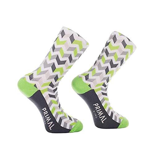 Primal Wear Basalt Shock - Calcetines para bicicleta (1 unidad), Hombre, Calcetines, 685245774192, multicolor, Size 5 - 9/Small/Medium