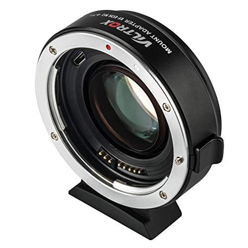 VILTROX EF-EOS M2 Autofokus-Objektivadapter für EF-Objektiv zu EOS EF-M spiegellose M-Serie Kamera M2 M3 M5 M6 M10 M50 M100 M200, Autofokus-Reduzierer, 0,71 x Geschwindigkeitsverstärker