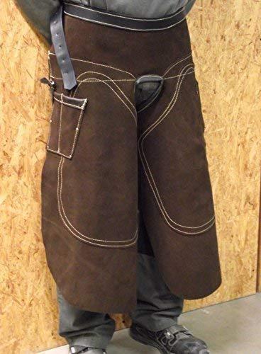 Förster-Fellnest Spezial Hufbeschlagschürze aus verstärktem, stabilen Leder für Hufschmiede, Hufpflege