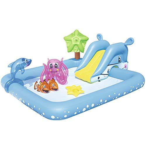 Fanuosuwr Piscina Infantil al Aire Libre Entretenimiento Piscina Inflable Parque acuático para niños Piscina para bebé Uso de Múltiples Escenas (Color : Blue, Size : 239x206x86cm)
