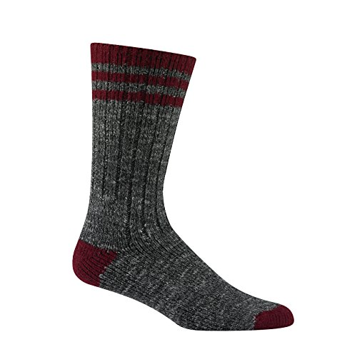 Wigwam Pine Lodge Walking Socks Charcoal Burgundy