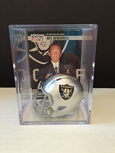 Oakland Raiders NFL Draft Helmet Shadowbox w/ Al Davis card
