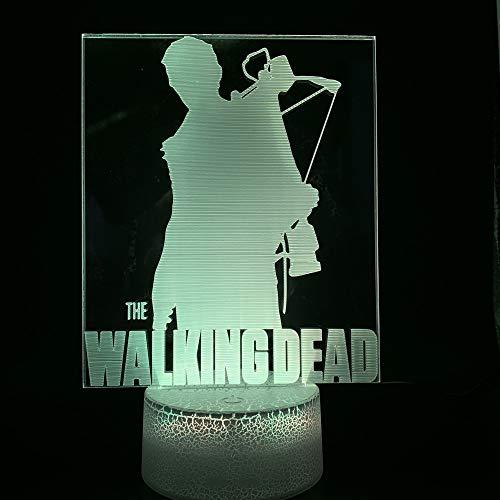 Neuheit Lichter Film The Walking Dead Home Dekoration Helle Basis Geburtstagsgeschenk Baby Schlafzimmer Dekoration 3D LED Nachtlicht Lampe