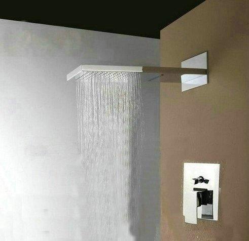 Articles de luxe 22 de Douche Tête Pluie Salle de bain robinet de douche à Double fonction-Inox - 7567 Ys