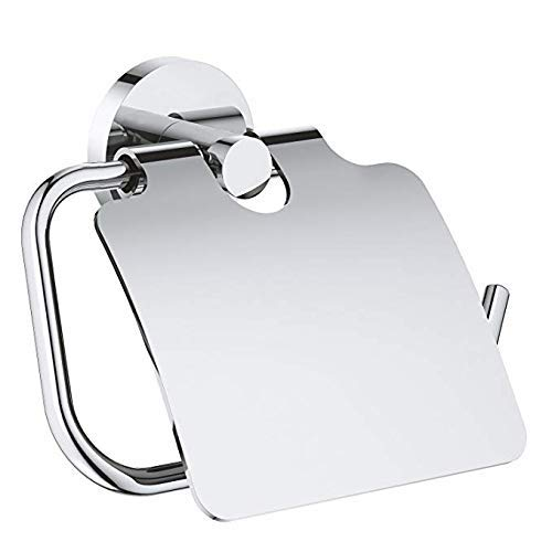 OlUM Toilettenpapierhalter mit Deckel Aufbewahrung Staubdicht für Badezimmer Edelstahl