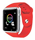 Bijoux BIJ-Watch-RD Smartwatch con Slot Micro Sim Etf Card, Rosso