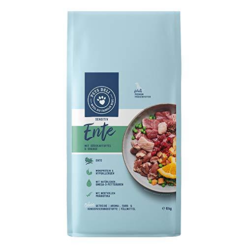 Sensitiv Trockenfutter für Hunde | Ente mit Süßkartoffel, Preiselbeere und Orange | 6 kg