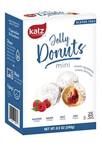 Katz Gluten Free Mini Jelly Donuts | Dairy Free, Nut Free, Soy Free, Gluten Free | Kosher (1 Pack of 6 Donuts, 8.5 Ounce Each)