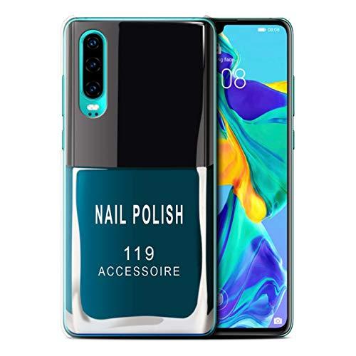 eSwish telefoonhoesje/over/huid/HUAGP-CC/nagellak/make-up collectie Huawei P30 2019 Blauw