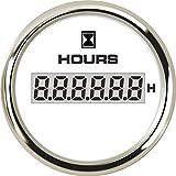 Metro Contador de Horas cronómetro 52mm Coche Digital for Marine Barco Motor 0-99.999,9 Rango 316L Bisel con 8 LED de Color Tiempo de iluminación Gauge Aguja (Color : 802 00131)