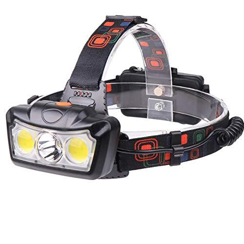SPTIDY LED Lampe Frontale 3800Lm Phare LED Lampe De Poche Lumière Principale Super Lumineux Étanche Lampe Frontale Phare Convient pour Le Camping, Sports Extrêmes, Aventure, Etc,Noir