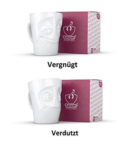 Fiftyeight Henkeltassen 2er Set vergnügt und verdutzt - 350 ml Henkelbecher