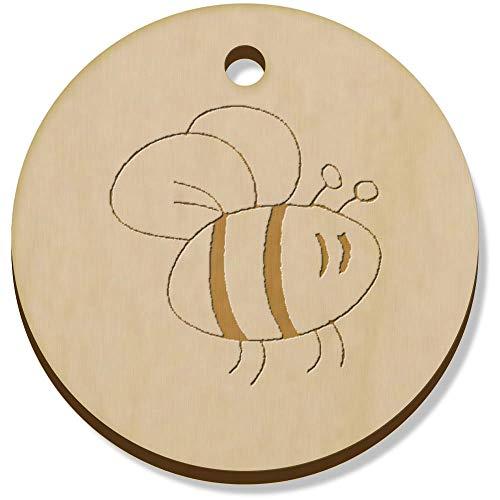 Azeeda 11 x 34mm 'Bee' Wooden Pendants / Charms (PN00062100)