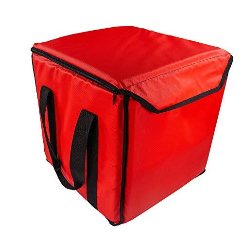 PizzaBag, Premium Pizza-Liefertasche für Lieferdienste (35 * 35 * 35 cm, Rot)