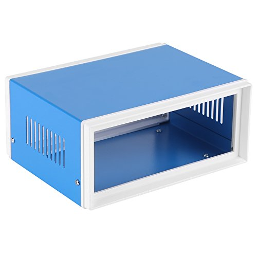Caja de conexiones para bricolaje, carcasa de proyecto de carcasa de resistencia de aislamiento fácil de instalar azul para interiores y exteriores para proyectos eléctricos